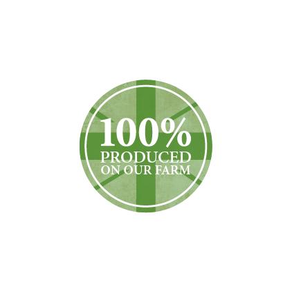 100% produced on our farm