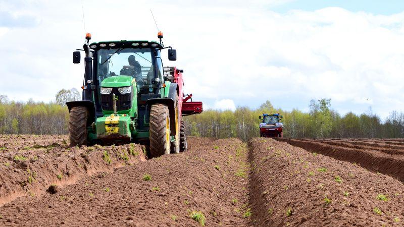 tractor potato field - Fylde Fresh and Fabulous
