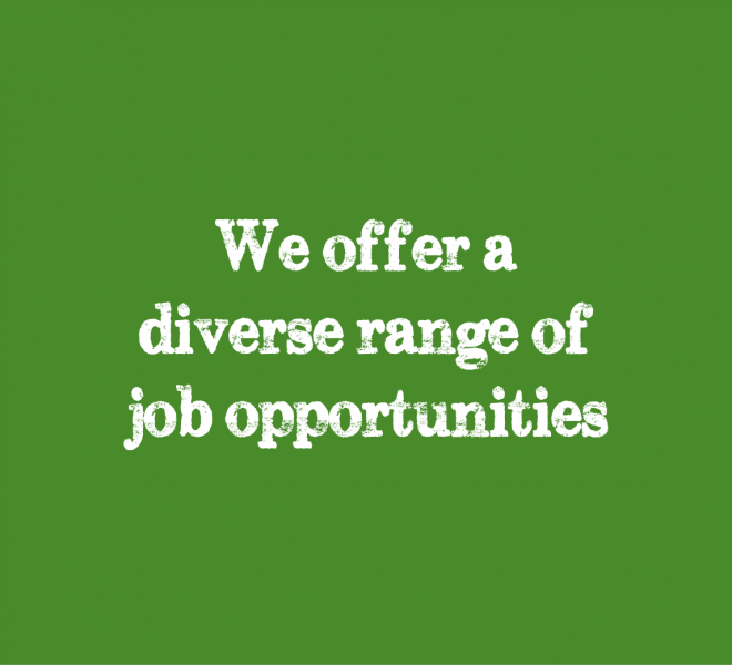 we offer a diverse range of job opportunities